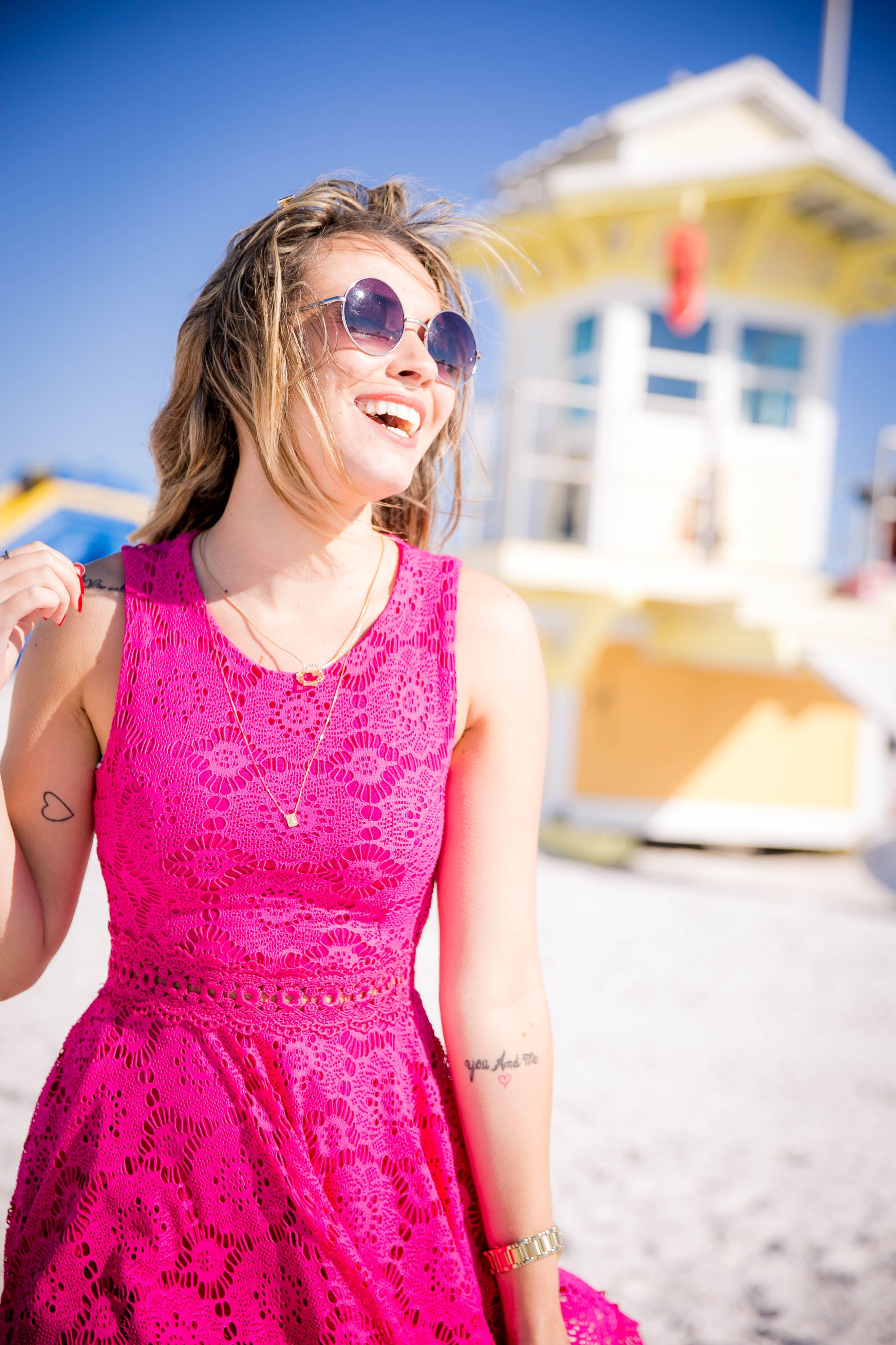 Vestido Rendado Pink   Fashion A b7f68ba8c5