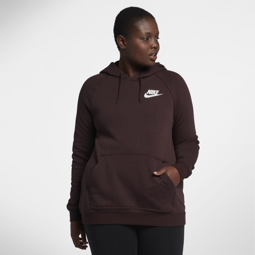 375a093c7d131 Nike Sportswear Rally Women s Hoodie (Plus Size) Size 1X (Burgundy Crush)