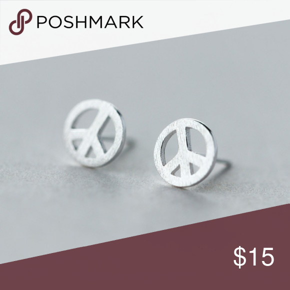 studs alixandra silver peacesignsilver peace gabby peter stud earrings sterling products sign