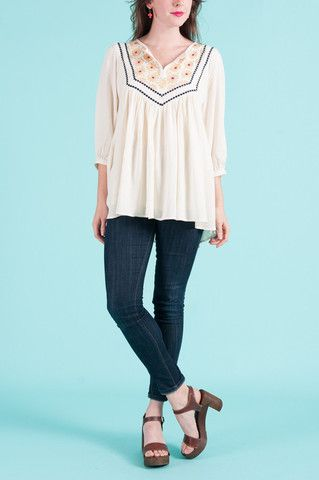 Shop Flairy Embroidered Top by Comme Toi online - Minx - Clothe, Adorn, Empower, Provide