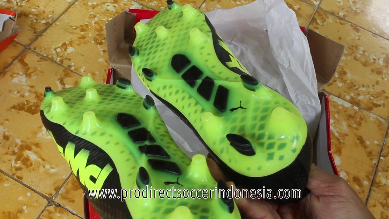 Sepatu Bola Puma Evopower Vigor 1 Fg Black Yellow 103824 08