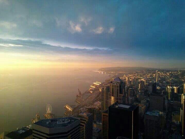 Seattle Sunset Tonight 1 21 14 Photo Michelle Choe Sunset