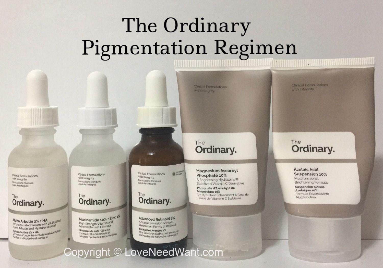 Skin Concerns The Ordinary Pigmentation Regimen The Ordinary Pigmentation The Ordinary Skincare Skin Care