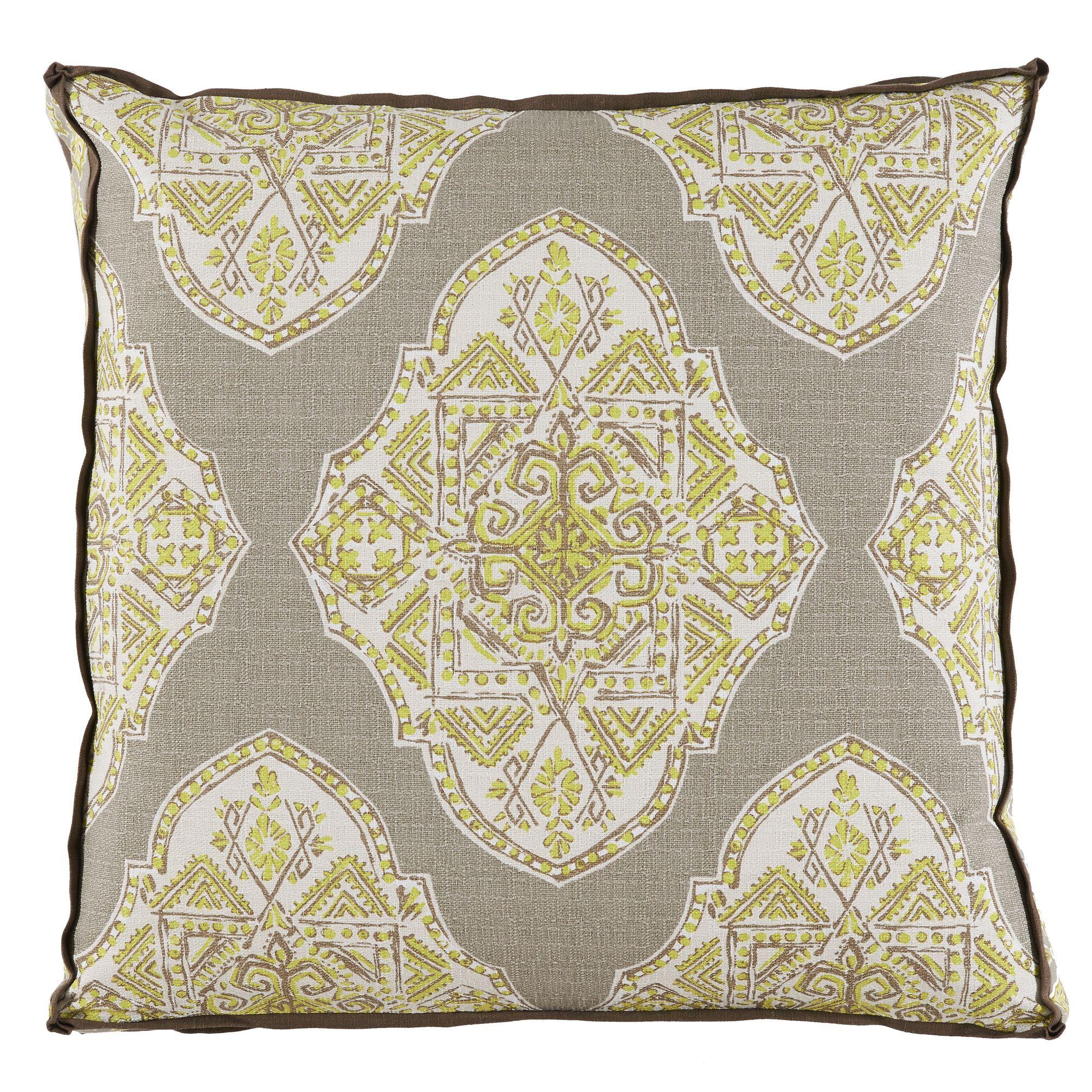 Tan Ornate Square Gusset Pillow Neutral Pillow Gusset Pillow Decorative Pillo Pillows Decorative Patterns Pillow Decorative Bedroom Large Decorative Pillows