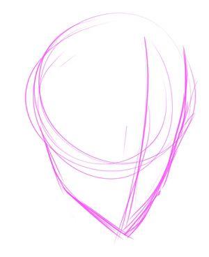 Grund Skizzen eines Kopfes