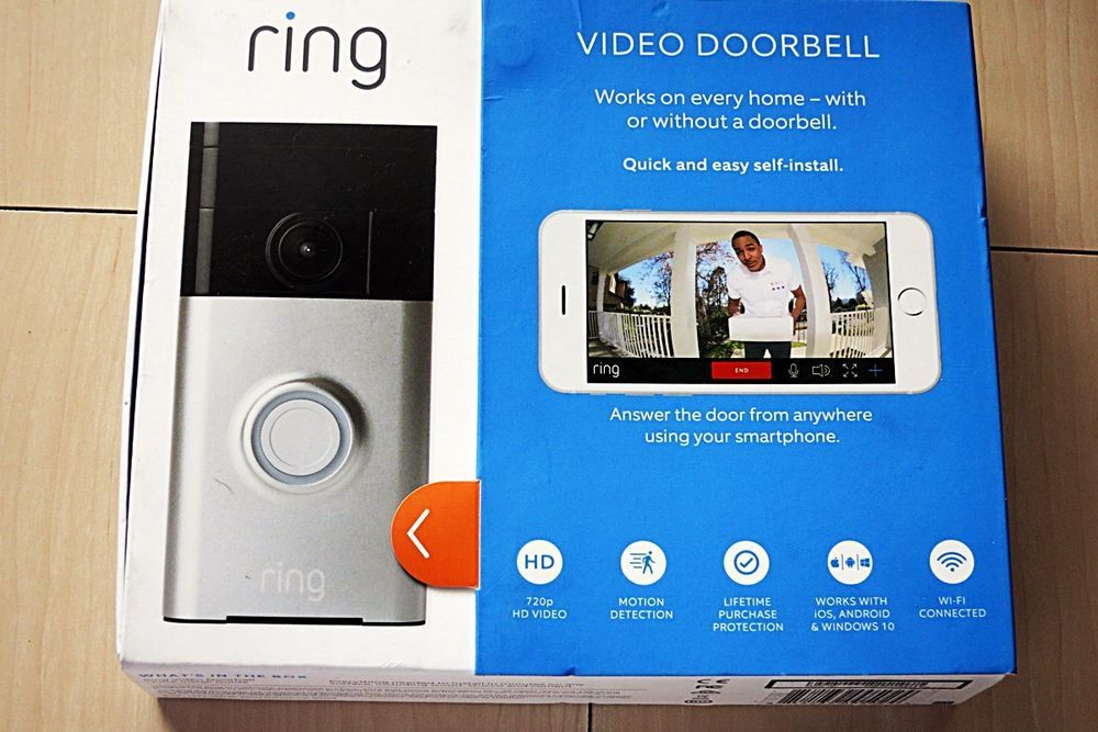 New Ring Wifi Enabled Smart Phone Video Security Camera Doorbell