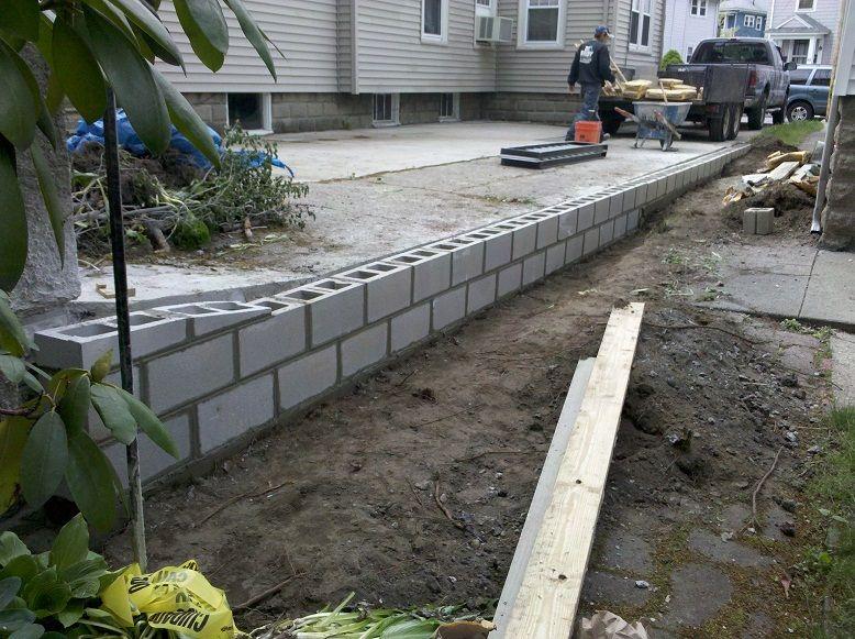 block wall complete | Cinder block garden, Cinder block ... on Backyard Cinder Block Wall Ideas  id=23829