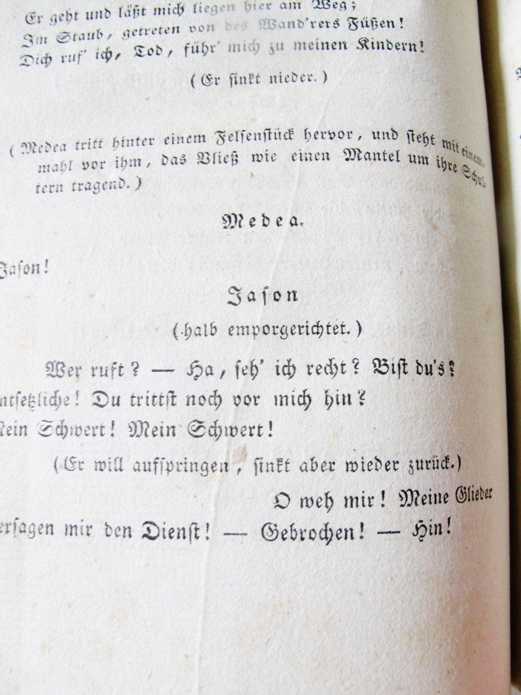 1822, FIRST EDITION, Antique German Austrian Book, Drama, Franz Grillparzer, The Golden Fleece, Jason, Medea, Argonauts, by AlpineCountryLooks on Etsy