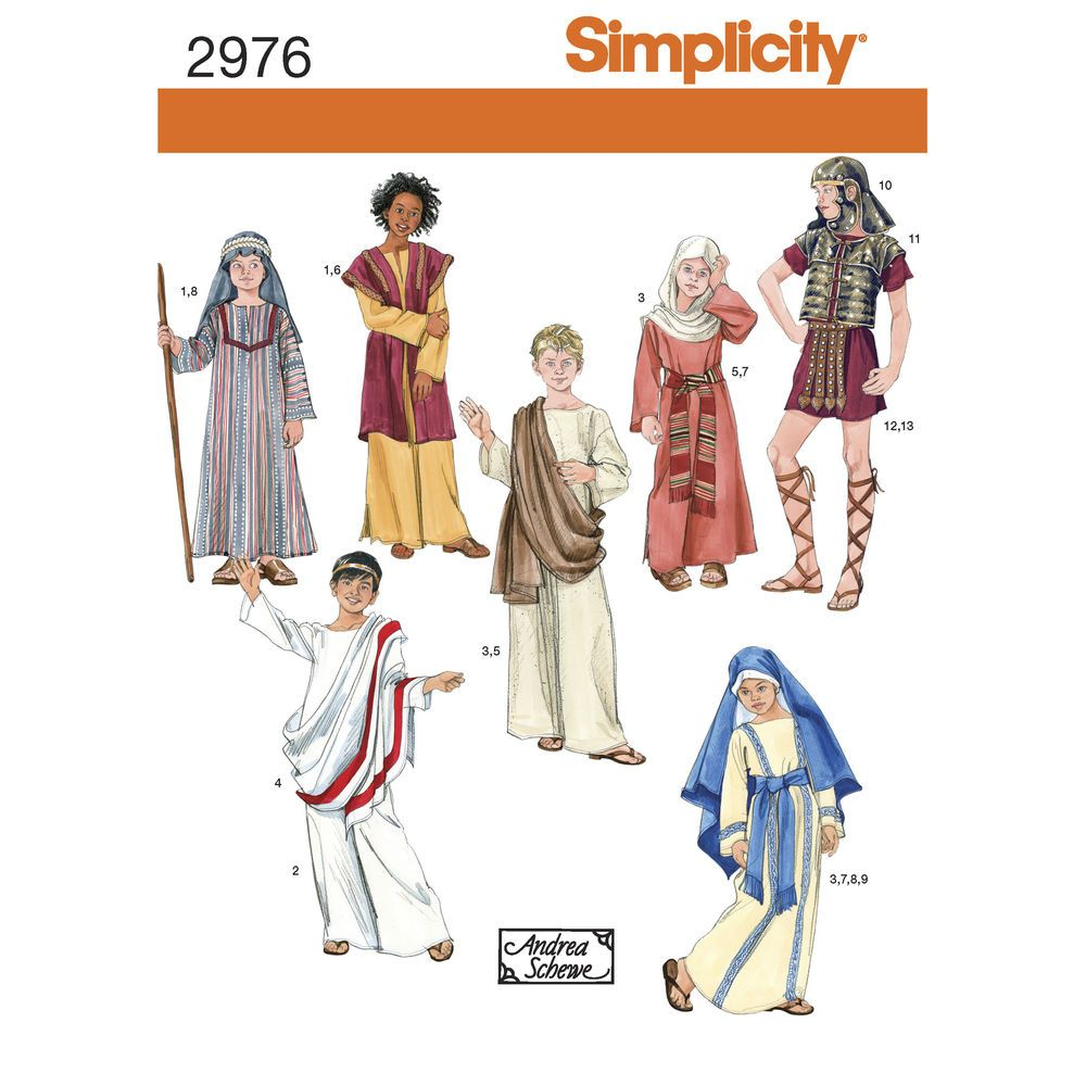 Boys\' & Girls\' Easter costumes for apostles, Mary, and a soldier ...