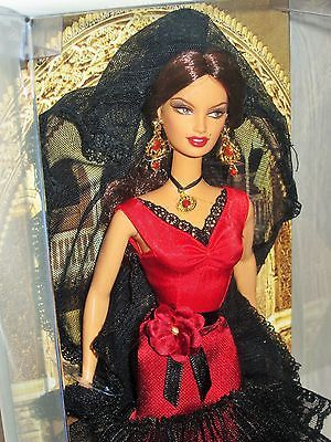 Details about Spain Barbie Doll 2007 Dolls of the World DOTW Pink