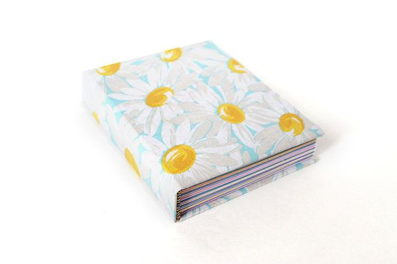 Pastel Daisies Hardcover Journal with Colored Pages, Floral Unlined ...