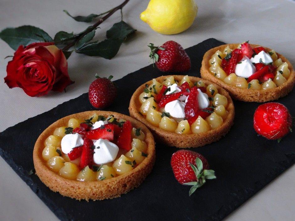 Tartelettes fraises-citron-basilic | La Cuisine d'Adeline