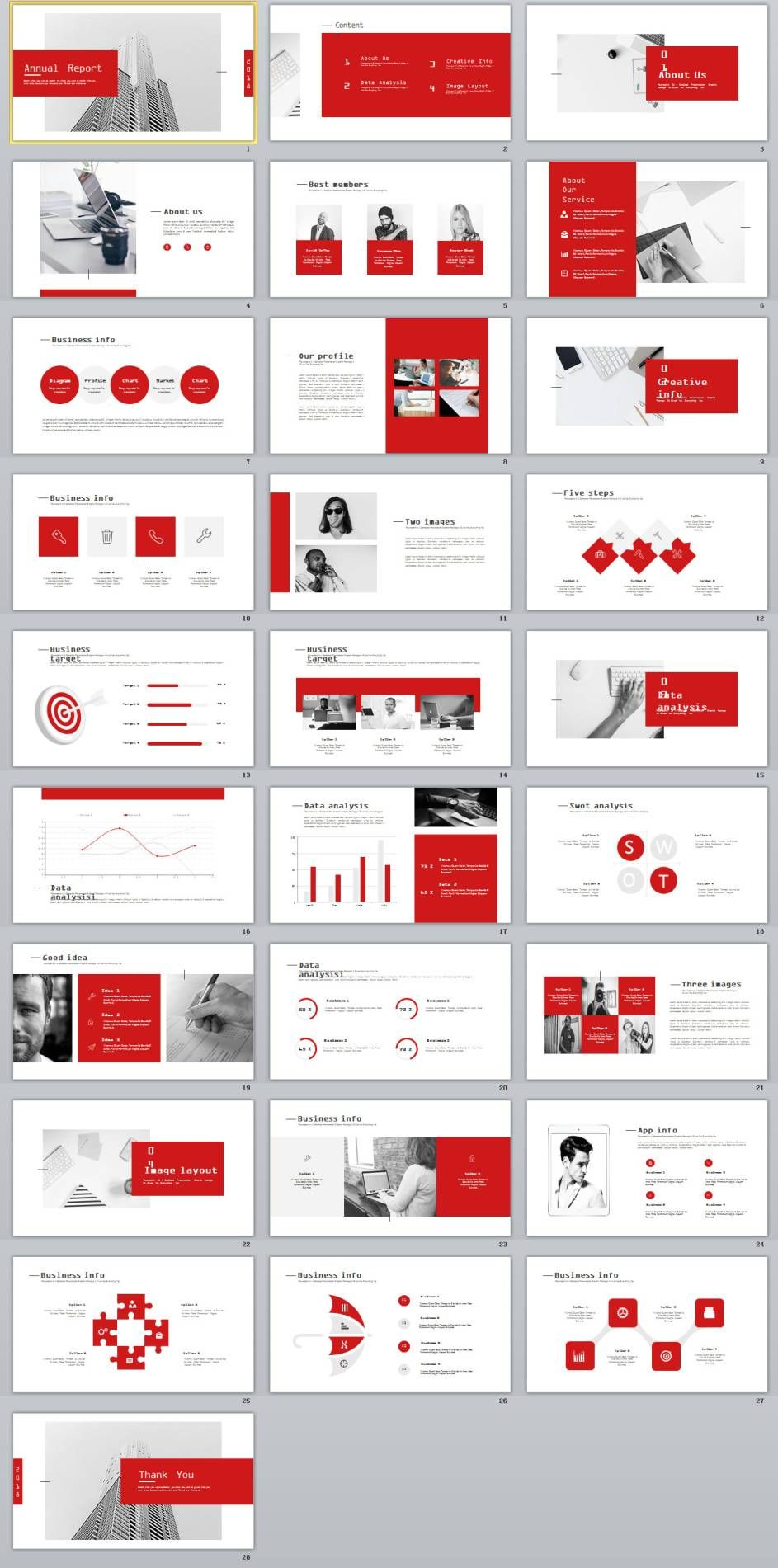 28 Best Company Annual Report Charts Powerpoint Template Ppt