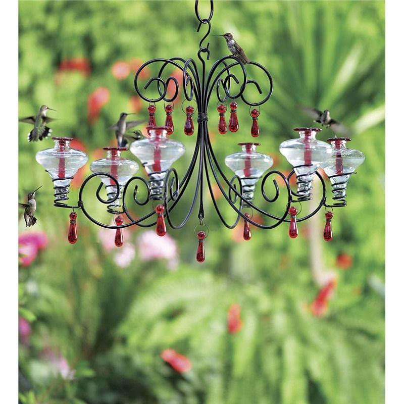 Glass hummingbird feeder mini blossom grand chandelier in bird glass hummingbird feeder mini blossom grand chandelier in bird feeders mozeypictures Choice Image