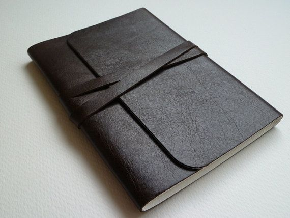 Leather Journal leather Notebook. Mustang by LeatherNotebooks