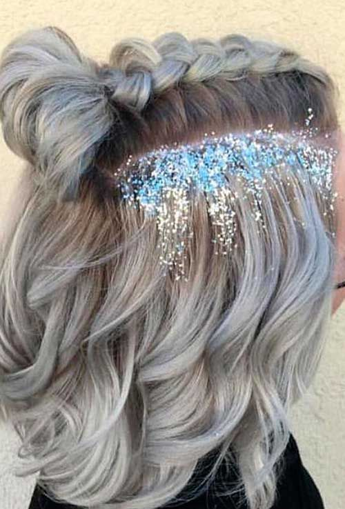 Striking Party Hairstyles For Short Hair Hairstyles Party Short Striking Prom Hairstyles For Short Hair Short Hair Styles Glitter Hair