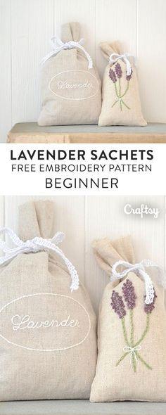 Hand Embroidered Lavender Sachets Quilts Pinterest Lavender