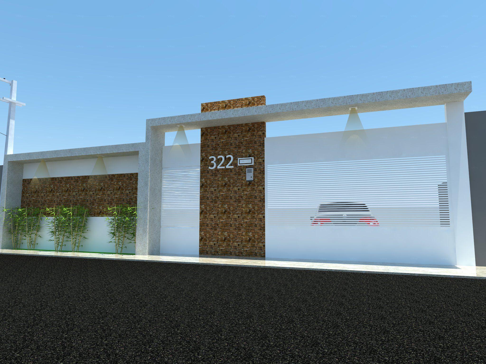 muro casa cliente manaus fachada pinterest