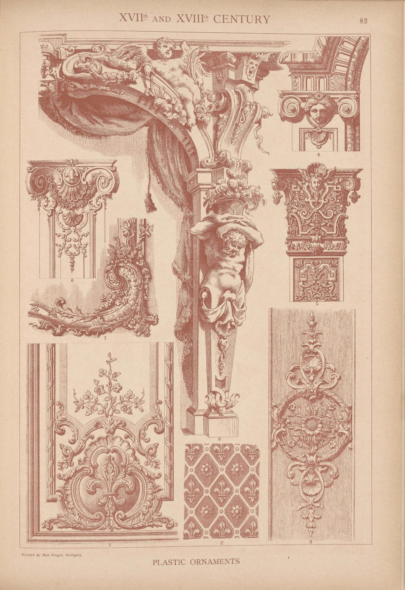 Emil Hochdanz 1816 1885 Xvii Xviii Centuries Historic Styles Of Ornament 1313x1909 Architecture Drawing Architecture Art Baroque Architecture