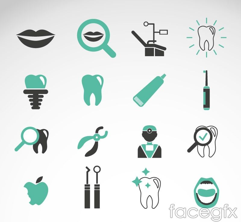 Free download 16 green teeth care icon vector free vector includes free download 16 green teeth care icon vector free vector includes vector material mouth dental humorcreative business cardsdental reheart Choice Image