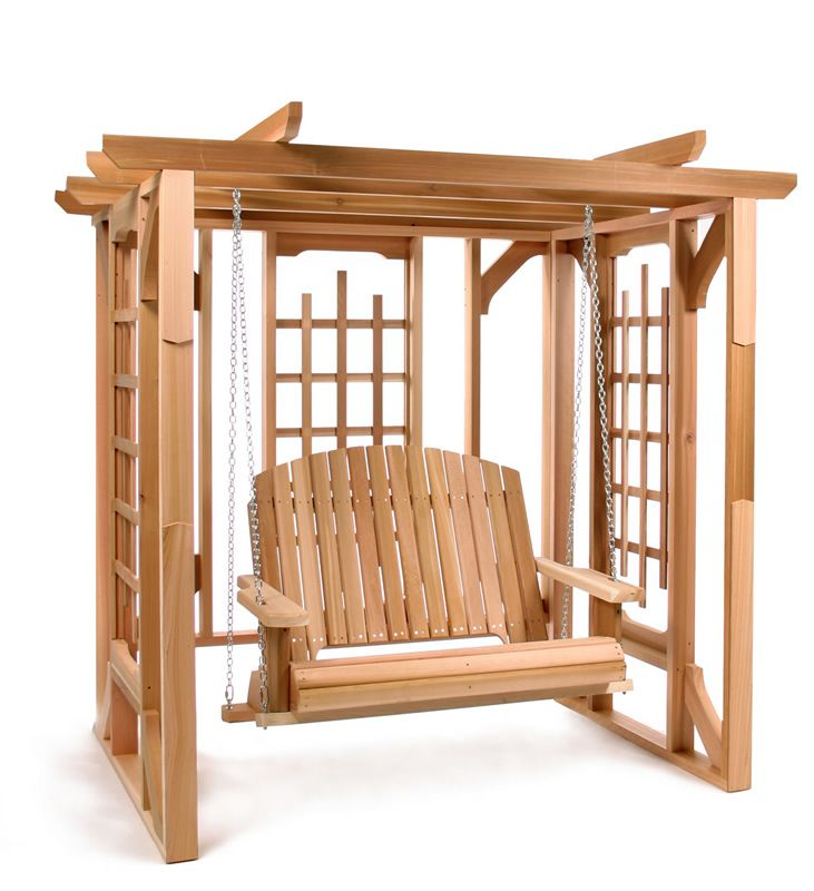Cedar Pergola Swing Set - Cedar Pergola Swing Set Kid, Plays And My Mom