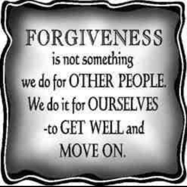 Forgiveness is not something we do for other people...
