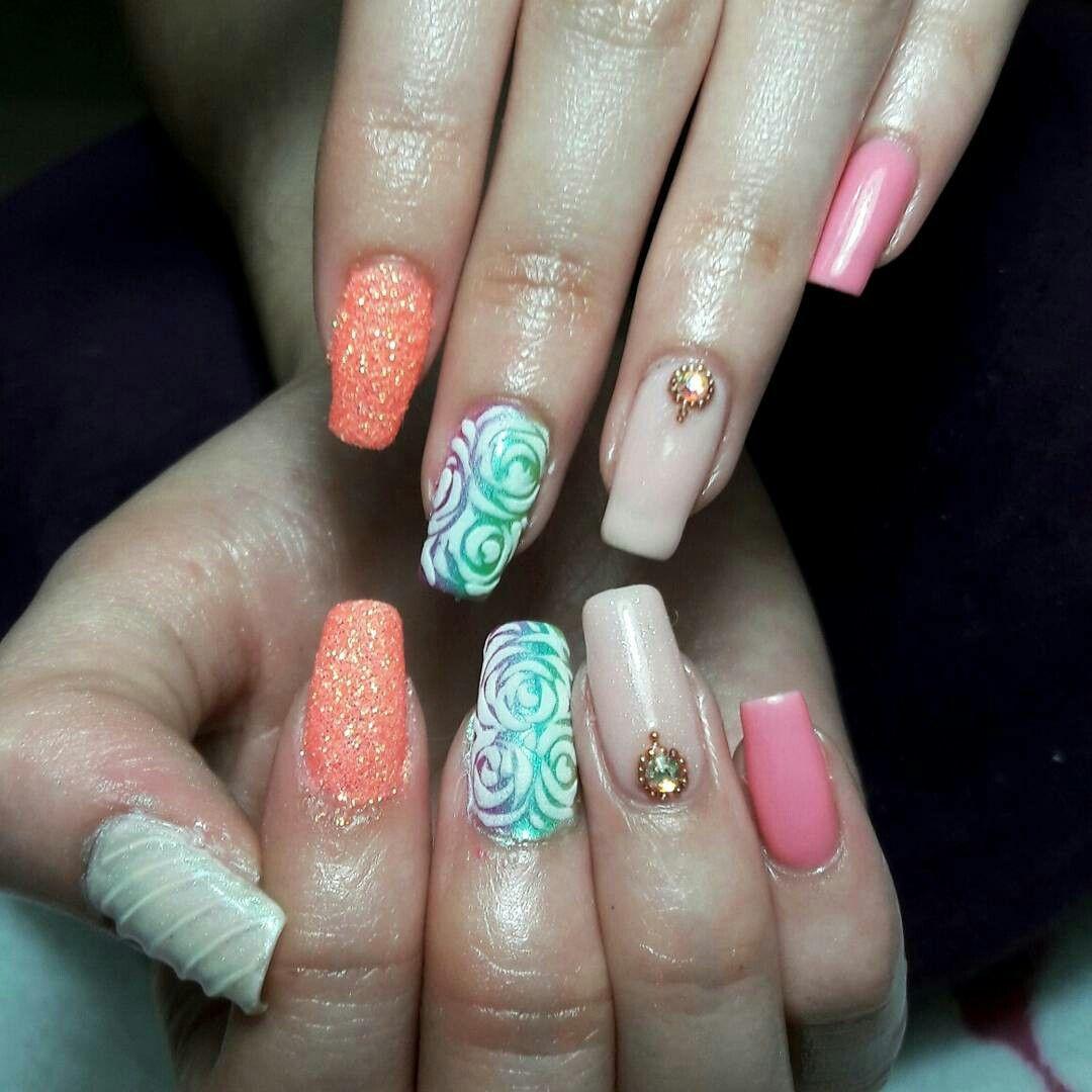 Tecnica mixta TamaNails | Nails | Pinterest