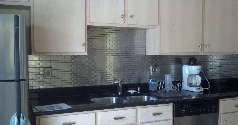 Subway Stainless Steel Kitchen Backsplash Stainless Steel Kitchen