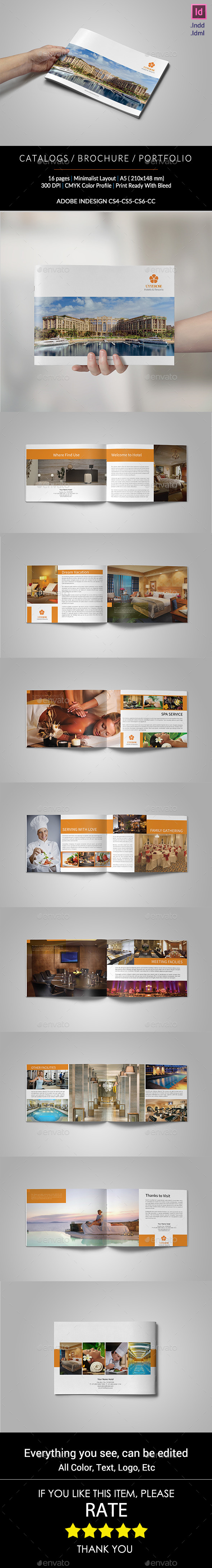 Hotel Brochure A5 | Hotel brochure, Brochure template and Brochures