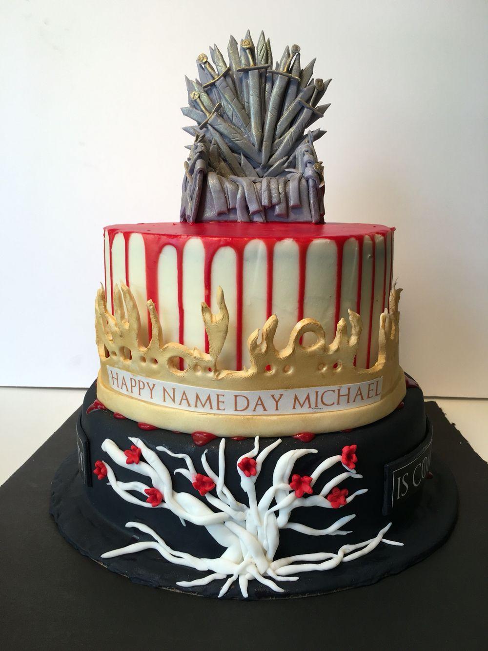 Game Of Thrones Theme Birthday Cake