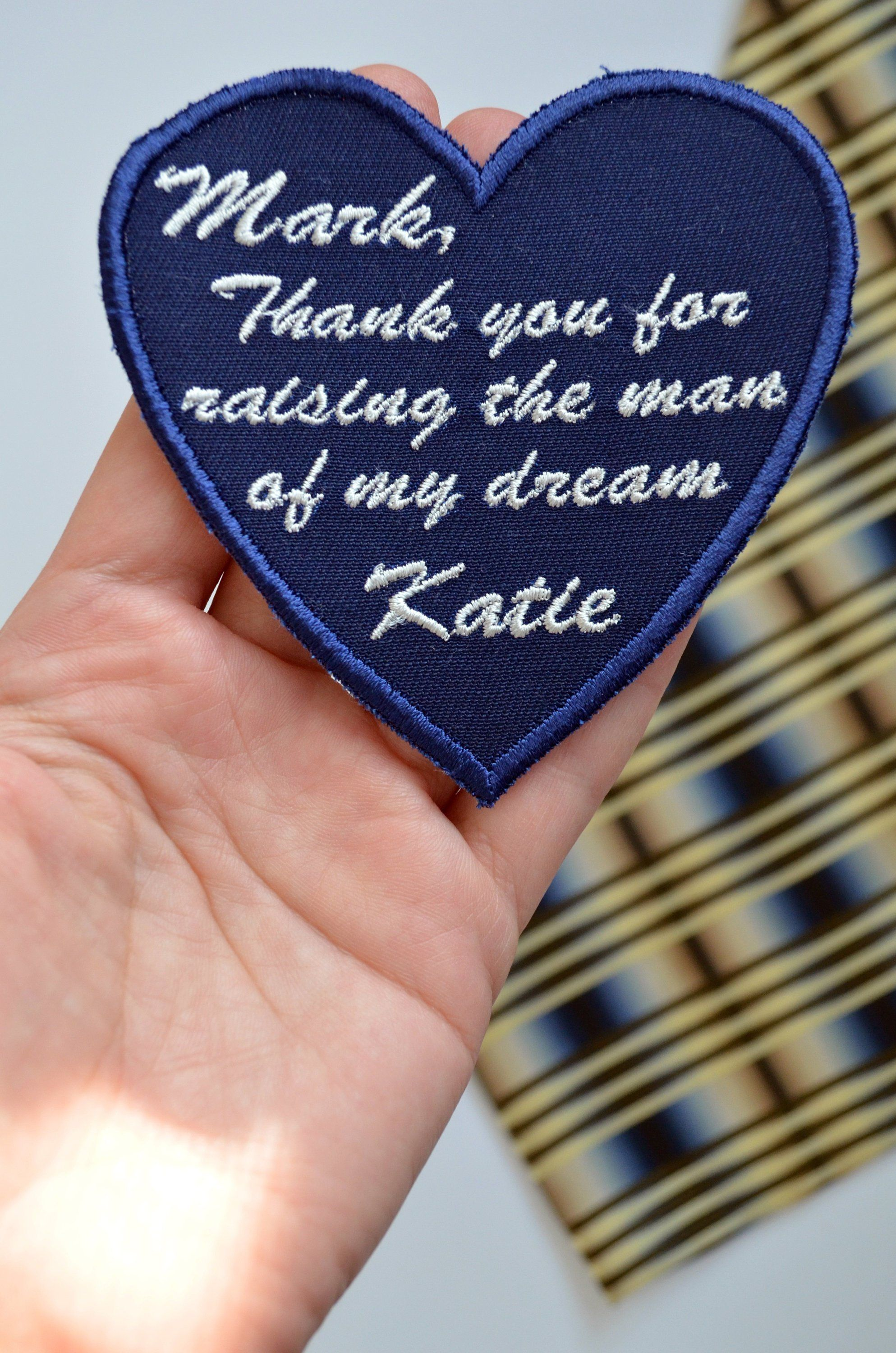 Father in law from bride personalized gift wedding tie