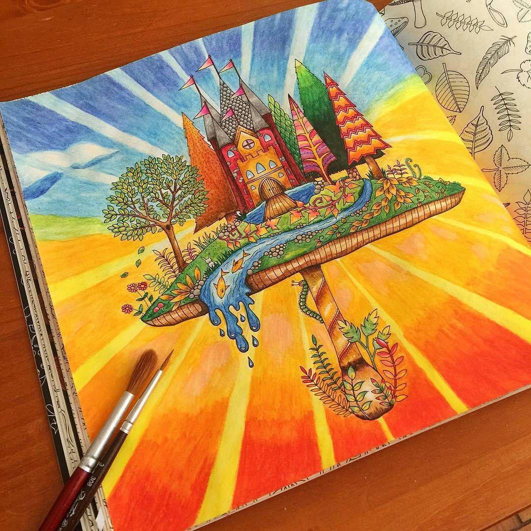 Arrasou no fundo! @Regrann from @sanchespablo -  O primeiro que eu fiz com lápis aquarelável! #artecomoterapia #passatempo #colors #staedtler #aquarela #colorful #Regrann #jardimsecreto #florestaencantada #johannabasford #coloringbook #lostocean #lapisdecoraquarelavel #coloriage #instaart #instacoloring #terapiadascores #colorirévida #colorindo #amocolorir