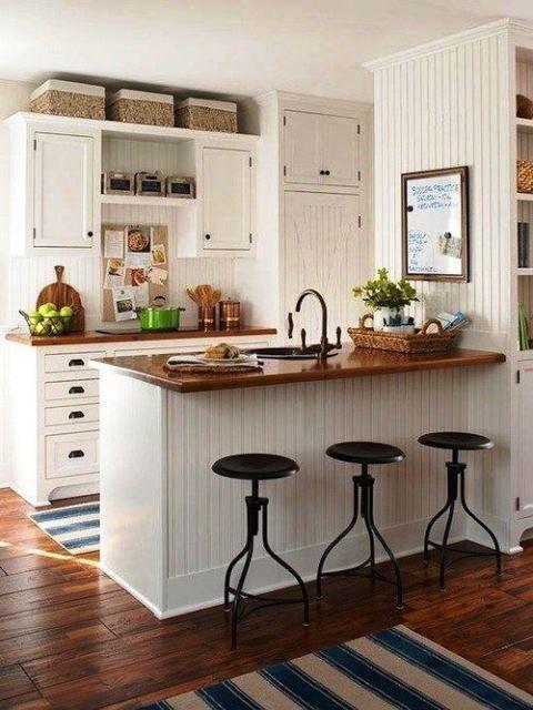 33 ideas de como decorar una cocina peque a con poco - Ideas para decorar cocinas pequenas ...