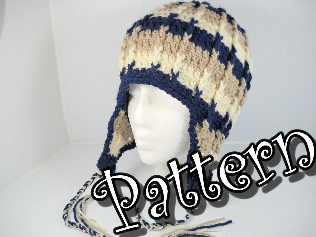 Ribbed Ear Flap Hat By Chickiesgirl Crocheting Pattern
