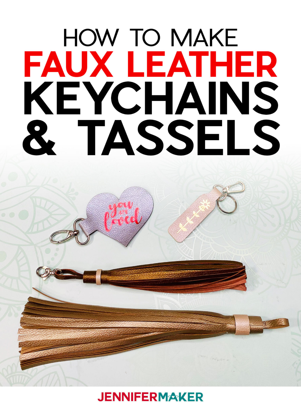 Easy Keychains and Tassels from Faux Leather Leather