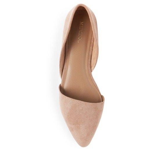 2b44002ba098 Women s Poppy d Orsay Flat Pointed Toe Ballet Flats - Light Taupe 10    Target