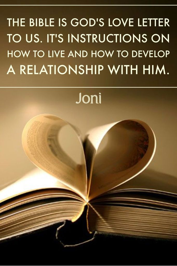 The Bible is God s love letter to us It s instructions on how to