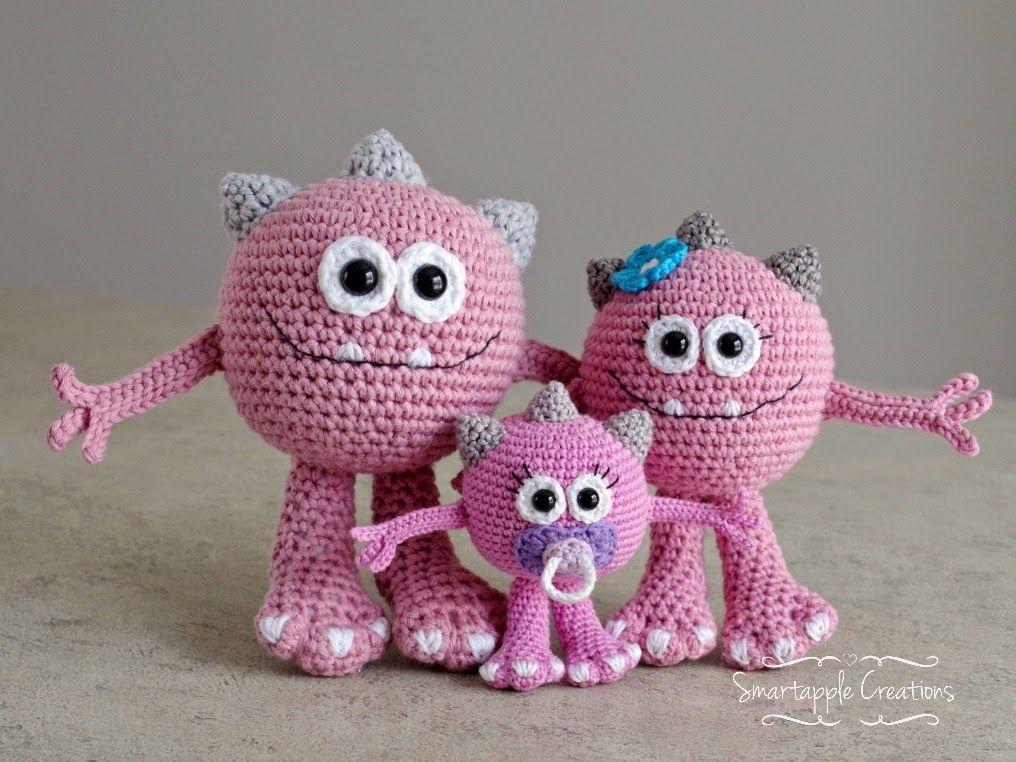 Monster family amigurumi / familia monstruos amigurumi | Amigurumis ...