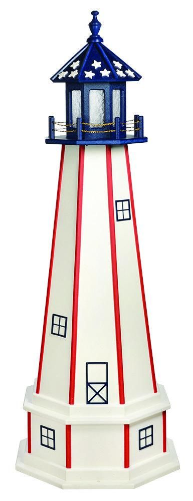 Best Patriotic Lighthouse White With Red Stripes Blue Top 400 x 300