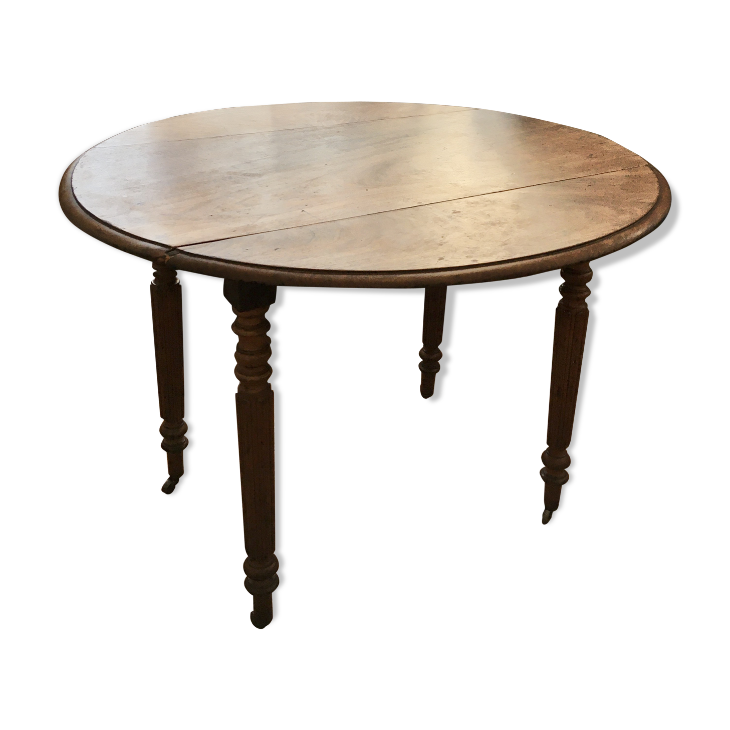 Salle A Manger Louis Philippe Relookee: Table Ronde Style Louis Philippe