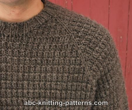 ABC Knitting Patterns - Men\'s Raglan Woodsman Sweater | Breiwerk ...