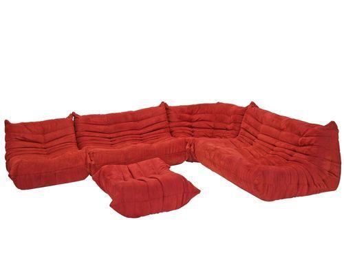 5pc Modern Modular Sectional Ligne Roset Togo Style Sectional Sofa