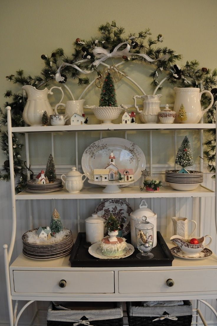 Bakers Rack Decorated Idea For Bakers Rack Decorating For