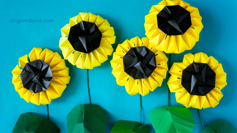 Origami Sunflower Version 1 Girasol