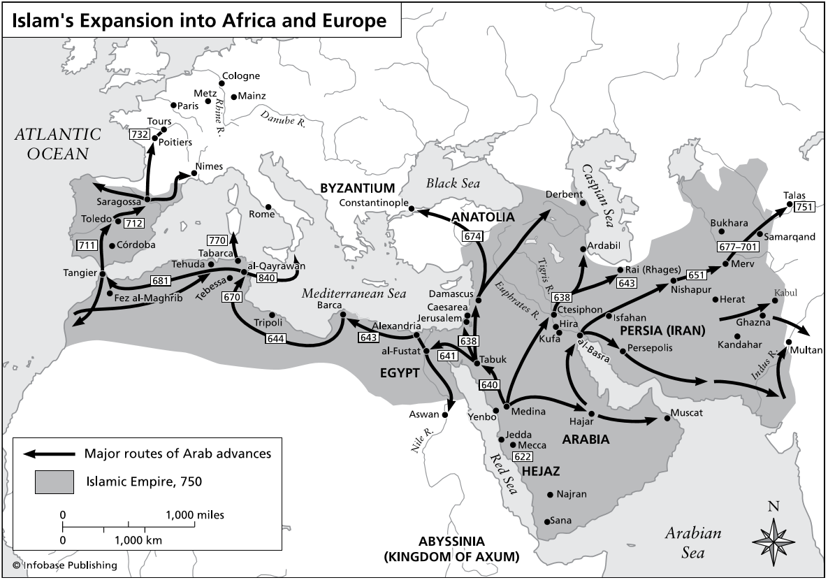 Islam S Expansion Into Africa And Europe During The