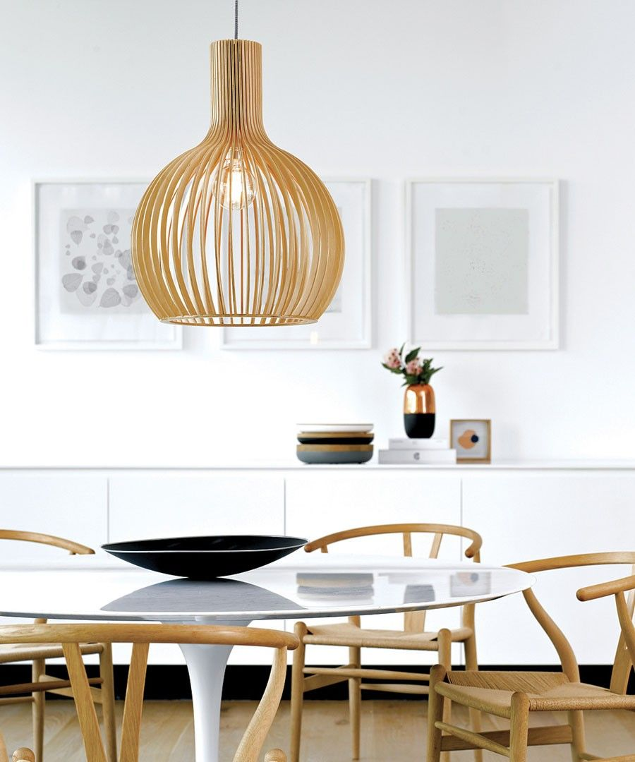 Malmo 1 Light 350mm Pendant In Natural Wood