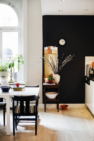 Black Kitchen Accent Wall