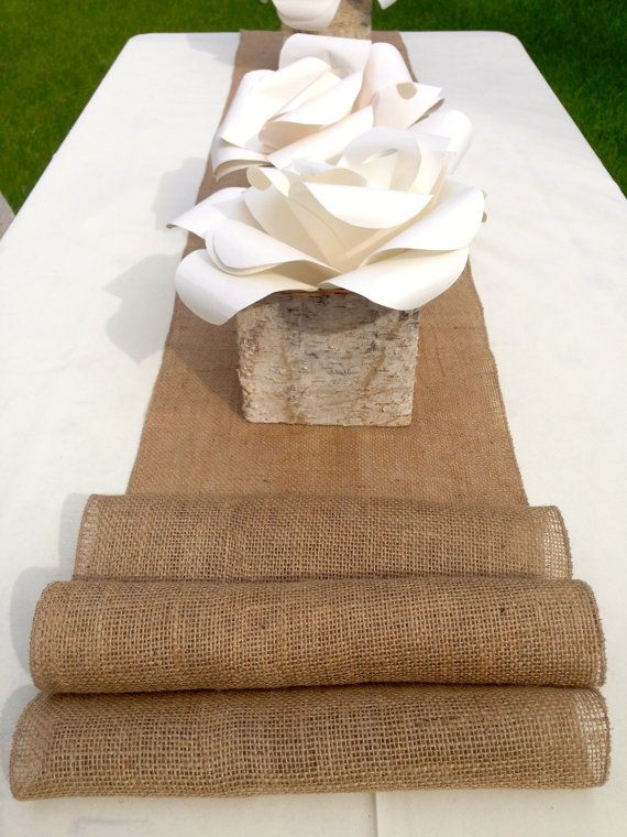 8 foot burlap table runner 14 39 39 wide x 96 39 39 by for 10 ft table runner