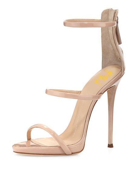 304e911e59d  EnvyWe  FSJshoes -  FSJ Shoes Nude 5 Inches Stiletto Heels Office Sandals  for