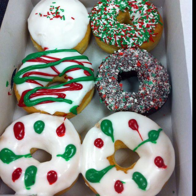 Christmas Donuts Christmas Donuts Christmas Food Chocolate Donuts